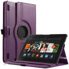 "ULAK 360 Rotating PU Leather Smart Cover Case For Kindle Fire HDX 8.9"" 2013"