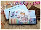 Personalised Birthday Rainbow Unicorn Chocolate Bar Wrapper Gift N119 ANY AGE
