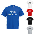Proud Shitholer Anti Racism Printed T-Shirt Text Trump