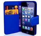 FLIP WALLET PU LEATHER CASE STAND COVER5  FOR APPLE I PHONE 5S SE 6 7 8PLUS