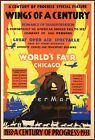 Chicago 1934 World's Fair Wings Of A Century Vintage Poster Print Transportation