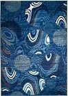NEW BLUE (#205) MODERN ABSTRACT AREA RUG; APRX SIZES: 2X3 2X7 4X5 5X7 8x11