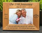 Personalized Engraved // Wedding Anniversary // Picture Frame
