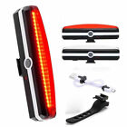 USB Rechargeable LED Bicycle Bike Cycling Front Rear Tail Light 6Mode Lamp NEW P