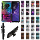 """For Samsung Galaxy S9 5.8"""" Design Holster Hybrid Hard Rubber Silicone Case Cover"""