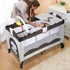 Portable Baby Crib Bassinet Playpen Travel Folding Bed Organizer Changing Table