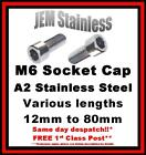 M6 Socket Cap Stainless Steel A2