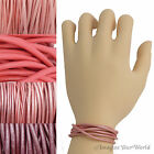 Pink Leather Cord Wrap Bracelet Custom Length to 72 inches Handmade USA necklace