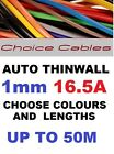 1.0MM AUTO CABLE, 12/24V THINWALL ORANGE TRACER STRIPED CAR BOAT WIRE 16.5 AMP