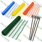 Plastic Mesh Barrier Safety Fence w/ metal Steel Fencing Pins ~ 4 Colour PREMIUM