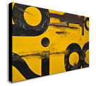YELLOW - NUMBERS - DISTRESSED - ABSTRACT Canvas Wall Art Print. Various Sizes