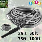 25/50/75/100ft Flexible Stainless Steel Metal Garden Lightweight Water Hose Pipe