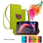 For Alcatel A7 5090 Fashion Leaf Embossed PU Leather Case Holster Flip Cover