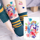 Cartoon Animal Tattoo Sticker Temporary Decal Elk Unicorn Body Art Children Gift $0.99 USD on eBay