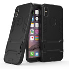 For iPhone X 8Plus 7 6S Shockproof Hybrid Rubber Hard Case Cover with Kick-Stand