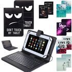 kindle fire hd 7 keyboard case - For Amazon Kindle Fire HD 7 8 10 2015-2017 Leather Micro USB Keyboard Case Cover