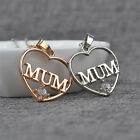 Mother Rhinestone Forever Necklace Jewellery Mum Heart Mummy Love Family Gift