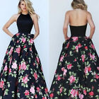 Women Long Ball Gown Dress Formal Party Floral Evening Cocktail Prom Maxi Dress