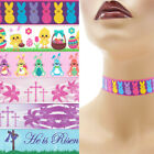 Easter Choker 7/8 inch (22 mm) Custom necklace bunny chick religious crosses +