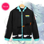 New Anime Hatsune Miku Costume Unisex Zipped Jacket Hoodie Sweatshirt Coat M-3XL