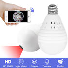 Wifi Hidden IP Camera 360° Panoramic 1080P Cam Mini SPY Home Wireless Light Bulb