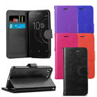For Sony Xperia XZ1 Compact - Premium Leather Wallet Flip Case Cover + Protector