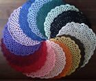 """COTTON PLATE, GLASS OR BREAD &  BUTTER  DOILIES - 3 1/2"""", 8 1/2"""" & 12"""""""