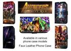 Avengers Inspired poster leather phone case infinity war marve Iphone Samsung