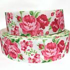 "GROSGRAIN RIBBON 7/8"" & 1.5"" ROSE FLOWERS - FL1 - ( MOTHER'S DAY ) PRINTED BULK"