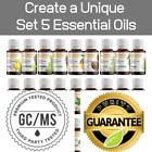 Essential Oil Kit Create Your Own Oil Set of 5 Aromatherapy Diffuser Oils 0.3oz