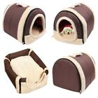 Pet Dog House Kennel Soft Foldable Beds Cave Cat Puppy Bed Doggy Warm Cushion