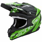 Scorpion VX-15 Gamma Black Green Full Face Moto-X Motorcycle Crash Helmet