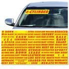 "14.5"" Red & Yellow Adhesive Windshield Slogan Car Dealer Sticker You Pick"