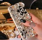 NEW DELUX COOL LUXURY BLING BLACK ROSE DIAMANTE CASE FOR VARIOUS MOBILE PHONE 8