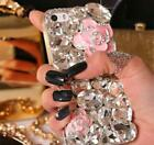 NEW DELUX COOL LUXURY BLING PINK ROSE DIAMANTE CASE VARIOUS MOBILE PHONE 7 8 9