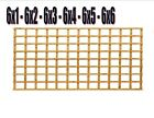 6 foot Heavy duty treated garden square trellis 19mm x 38mm battens. One Postage