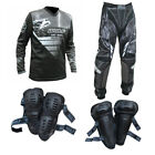 Adult+MX+Wulf+Wulfsport+2019+AZTEC+Pant+Shirt+Knee+%26+Elbow+Pads+Black+%23A21