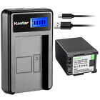 Kastar Decoded Battery LCD Charger for Canon BP-828 BP828 & Canon VIXIA HF G40