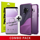 For Galaxy S9 | Ringke Purple Combo Cover Case + Dual Easy Full Screen Protector