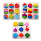 Colorful Wooden Geometry Block Kids Baby Early Learning Educational Toys Gift