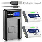 Kastar Battery LCD Charger for Sony NP-BD1 NPBD1 & Sony DSC-T300 Digital Camera