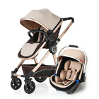 Baby Stroller And Car Seat Single Push Chair Good For Travel Double Fold Black