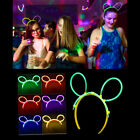 Glow In The Dark Stick Glo Party Headband Festival Rainbow Light Up Concert Hen