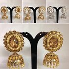 SILVER/GOLDEN PEARL JHUMKA STYLE EARRING BOLLYWOOD TRADITIONAL DESIGN JS5-905