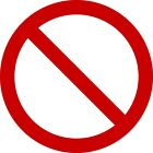No Symbol Red Vinyl Quality Decals Sticker Buy 1 Get 2 Free Shipping
