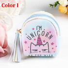 Unicorn Coin Purse Pouch Mini Backpack Bag PU Leather Keychain Pouch Wallets Top