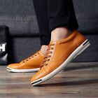 Classic Leather Loafers Mens Formal Business Shoes Casual Lace Up Breathable