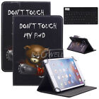 "Universal For 8"" Inch Tablet Pattern Leather Cover Case with Wireless Keyboard"