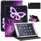 """Universal For 8"""" Inch Tablet Pattern Leather Cover Case with Bluetooth Keyboard"""