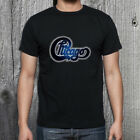 T SHIRT CHICAGO Band Classic Logo Concert Tour Men's Black T-Shirt Size image